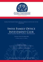 Swiss Family Office Investment Club - First Property Group plc