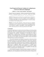 Uma Proposta de Processo Contínuo de Avaliação para Cursos de ...