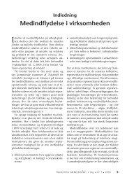 Indledning: - Medindflydelse i virksomheden - Nyt om Arbejdsliv