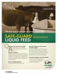 SAfE-GuArd® Liquid fEEd - Merck Animal Health