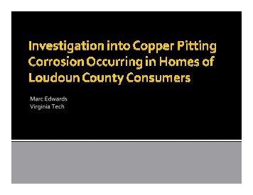 Virginia Tech PowerPoint Presentation on Copper ... - Loudoun Water