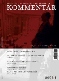 Kommentár 2006/1. szám (pdf)