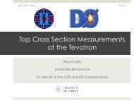 Top Cross Section Measurements at the Tevatron - rencontres de blois