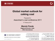 Global market outlook for coking coal - The Associated Chambers of ...