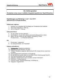 43 Empfehlungen(PDF, 77 KB) - Stadtentwicklung - Winterthur