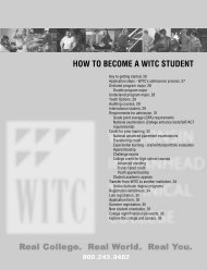 how to become a witc student - Wisconsin Indianhead Technical ...