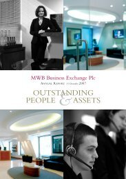 Annual Report - 12 months to 31 December 2007 - MWB Business ...