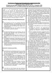 Verordnung zur Regelung des Gemeingebrauchs am ...