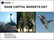 SAAB CAPITAL MARKETS DAY