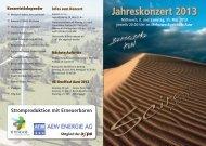 Programm Jahreskonzert 2013 [PDF, 2.00 MB]
