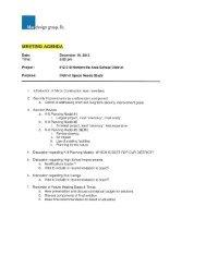 design group, llc. - Hortonville Area School District