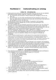 Hoofdstuk 2 Indiensttreding en ontslag - Bouwend Nederland