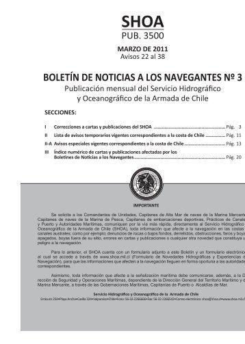 BOLETÍN DE NOTICIAS A LOS NAVEGANTES Nº 3 - Shoa