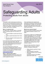 Safeguarding Adults - East Sussex County Council
