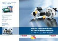 Starter und Generatoren im Bosch-Werkaustausch: Erste Klasse in ...