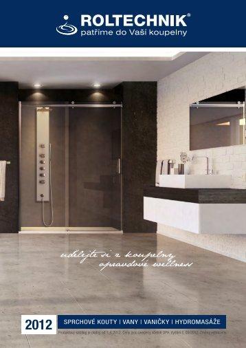 2012 Sprchové kouty   vany   vaničky   hydromaSáže - Roltechnik as