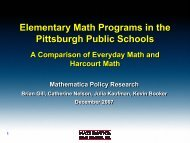 Elementary Math Programs in the Pittsburgh Public Schools: A ...