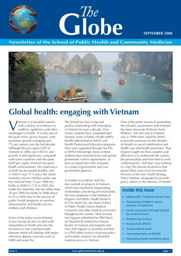 The Globe - Issue 02 - School of Public Health and Community ...