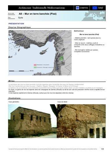 A8 – Mur en terre banchée (Pisé)