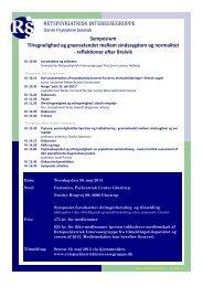 R§ RETSPSYKIATRISK INTERESSEGRUPPE Symposium ...