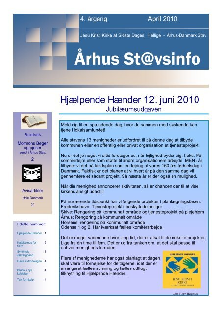 Hjælpende Hænder 12. juni 2010 - Jesu Kristi Kirke af Sidste Dages ...