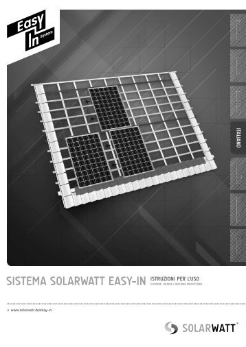 SISTEMA SOLARWATT EASY-IN ISTRUZIONI PER L'USO