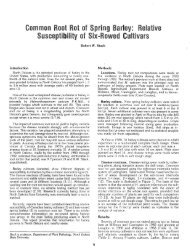 Common Root Rot of 'Spring Barley: Relative Susceptibility of Six ...