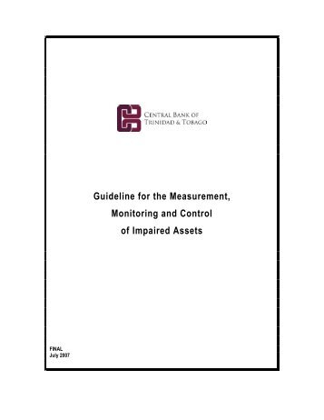 Guideline for the Measurement, Monitoring and Control of Impaired ...