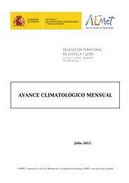 AVANCE CLIMATOLÓGICO MENSUAL Julio 2012 - FTP Itacyl
