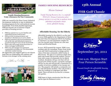 September 30, 2011 - Family Housing Resources