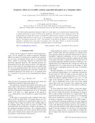 Symmetry effects in reversible random sequential adsorption on a ...