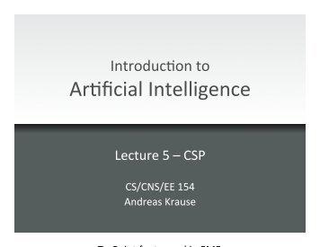 CSPs - Caltech