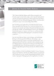 Kodex der Deutsche Makler Akademie