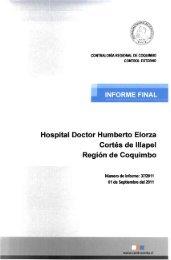 informe final n° 37-11 hospital doctor humberto elorza cortés de ...