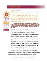 Printable Press Release (PDF) - Women's Dermatologic Society