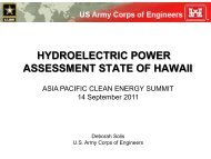 HYDROELECTRIC POWER ASSESSMENT STATE OF HAWAII