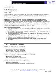 VoIP-Vormessungen - VAF - Bundesverband Telekommunikation eV