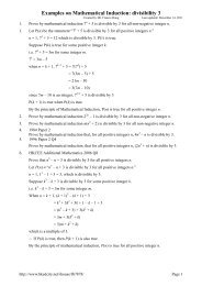Examples on Mathematical Induction: divisibility 3