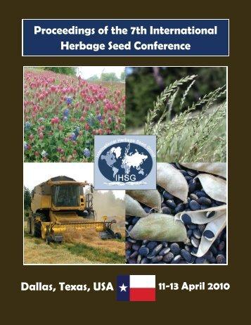 Texas, USA 2010 - International Herbage Seed Group