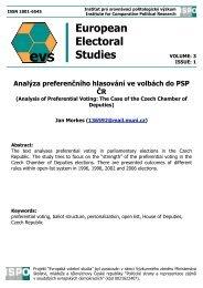 Full Article - Evropská volební studia - Masarykova univerzita