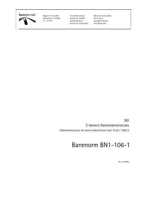 Banenorm BN1-106-1 - Banedanmark