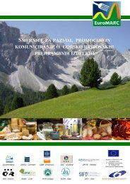 smernice za razvoj , promocijo in komuniciranje o ... - Euromontana