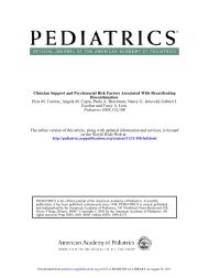 Breastfeeding - American Academy of Pediatrics