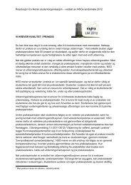 Vi krever kvalitet i praksis - Norsk studentorganisasjon