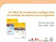 PLH du Pays d'Aix Bilan 2005 - 2011 - Habiter-mpm.info