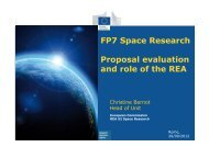 FP7 Space Research Proposal evaluation and role of the REA - Apre