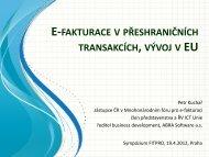 e-fakturace v přeshraničních transakcích, vývoj v eu - Hospodářská ...