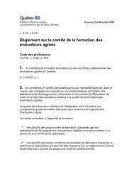 Règlement sur le comité de la formation des évaluateurs agréés (PDF)