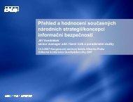 Hlavní zjištění uvedená v International CIIP Handbook 2006