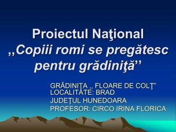 Proiectul Naţional ,,Copiii romi se pregătesc pentru ... - Salvati Copiii